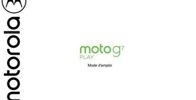 Manuel de l'utilisateur Motorola G7 Play French PDF