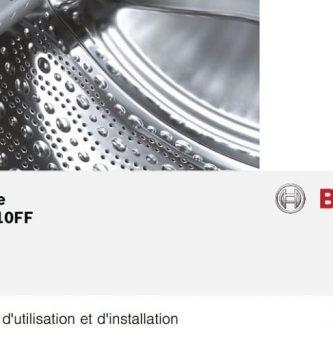 Lave-linge Bosch WAK28210FF Instructions PDF