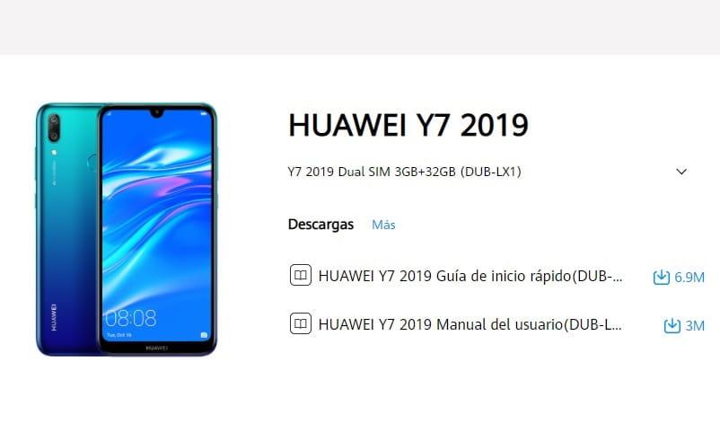 Manuel de l'utilisateur Huawei Y7 2019 Français PDF.