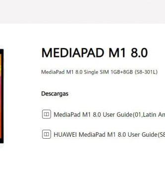 Manuel d'utilisation du Huawei MediaPad M1 Français PDF.